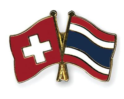 Crossed Flag Pins Switzerland-Thailand
