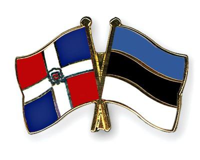 Crossed Flag Pins Dominican-Republic-Estonia