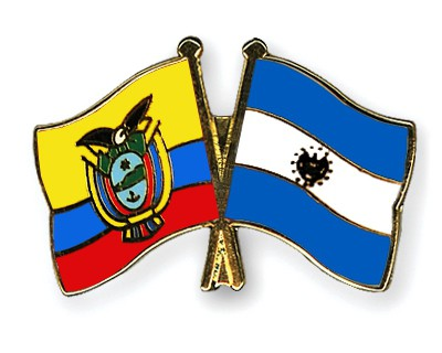 Crossed Flag Pins Ecuador-El-Salvador