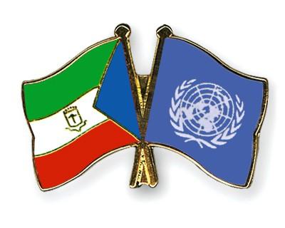 Crossed Flag Pins Equatorial-Guinea-UNO