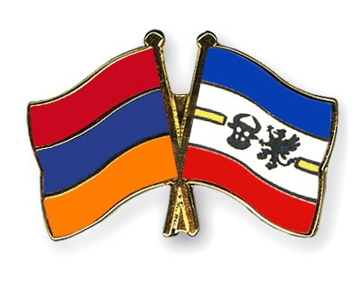 Crossed Flag Pins Armenia-Mecklenburg-Western-Pomerania