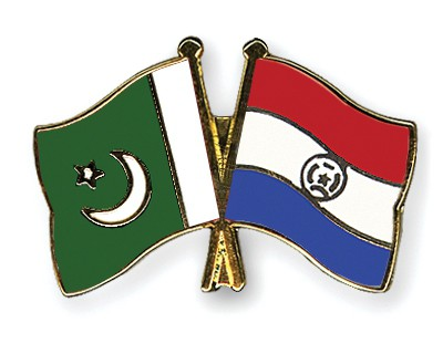 Crossed Flag Pins Pakistan-Paraguay