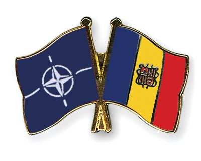 Crossed Flag Pins NATO-Andorra