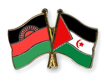 Crossed Flag Pins Malawi-Western-Sahara