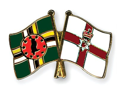 Crossed Flag Pins Dominica-Northern-Ireland