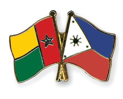 Crossed Flag Pins Guinea-Bissau-Philippines