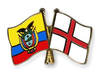 Crossed Flag Pins Ecuador-England
