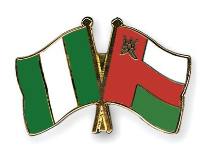 Crossed Flag Pins Nigeria-Oman
