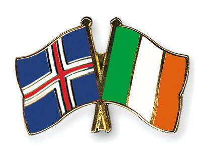 Crossed Flag Pins Iceland-Ireland