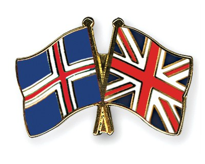 Special Offer Crossed Flag Pins Iceland-Great Britain