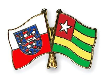 Crossed Flag Pins Thuringia-Togo