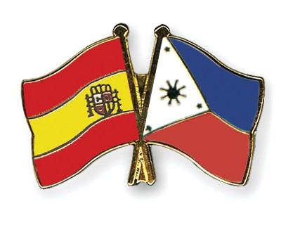Crossed Flag Pins Spain-Philippines