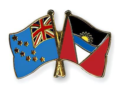 Crossed Flag Pins Tuvalu-Antigua-and-Barbuda