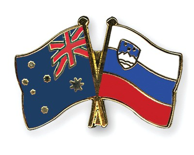 Special Offer Crossed Flag Pins Australia-Slovenia