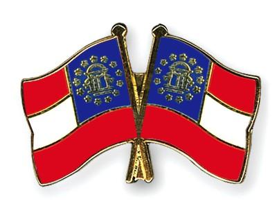Crossed Flag Pins Georgia-Georgia