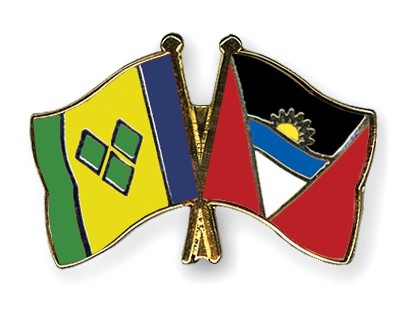 Crossed Flag Pins Saint-Vincent-and-the-Grenadines-Antigua-and-Barbuda
