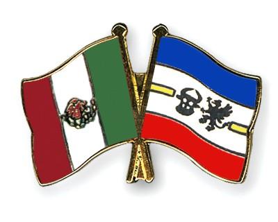 Crossed Flag Pins Mexico-Mecklenburg-Western-Pomerania