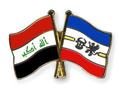 Crossed Flag Pins Iraq-Mecklenburg-Western-Pomerania