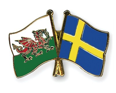 Special Offer Crossed Flag Pins Wales-Sweden