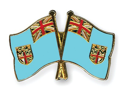 Crossed Flag Pins Fiji-Fiji