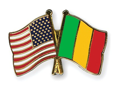 Special Offer Crossed Flag Pins USA-Mali