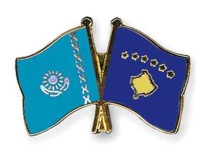 Crossed Flag Pins Kazakhstan-Kosovo