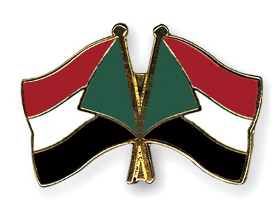 Crossed Flag Pins Sudan-Sudan