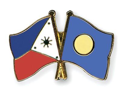 Crossed Flag Pins Philippines-Palau