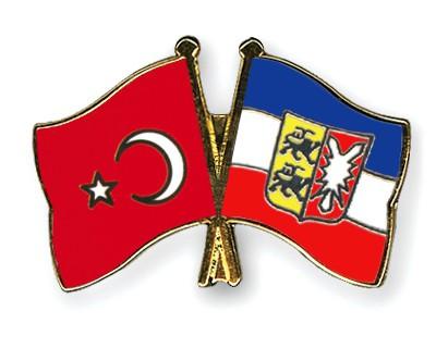 Crossed Flag Pins Turkey-Schleswig-Holstein
