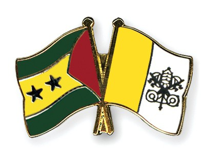 Crossed Flag Pins Sao-Tome-and-Principe-Vatican-City