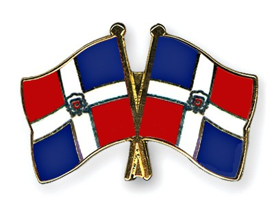 Crossed Flag Pins Dominican-Republic-Dominican-Republic