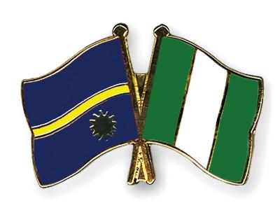 Crossed Flag Pins Nauru-Nigeria