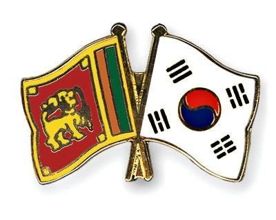 Crossed Flag Pins Sri-Lanka-South-Korea