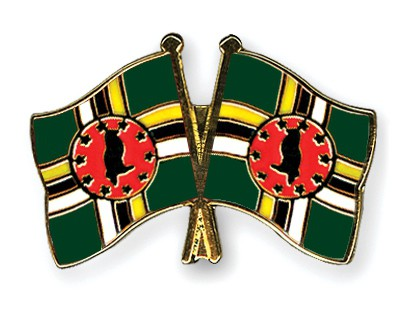 Crossed Flag Pins Dominica-Dominica