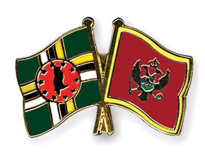 Crossed Flag Pins Dominica-Montenegro