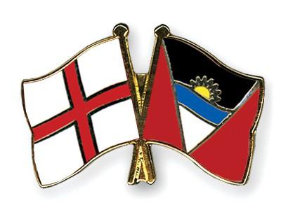 Crossed Flag Pins England-Antigua-and-Barbuda