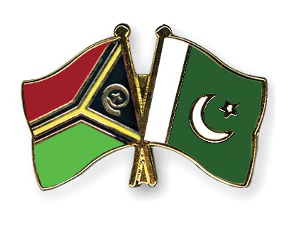 Crossed Flag Pins Vanuatu-Pakistan