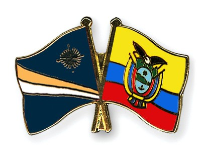 Crossed Flag Pins Marshall-Islands-Ecuador