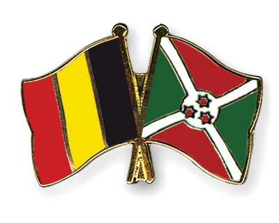 Special Offer Crossed Flag Pins Belgium-Burundi