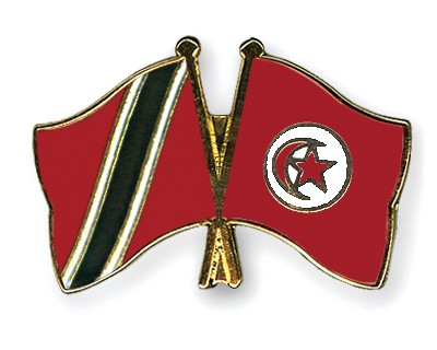 Crossed Flag Pins Trinidad-and-Tobago-Tunisia
