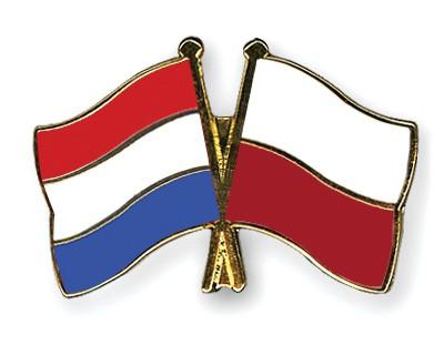 Crossed Flag Pins Netherlands-Poland