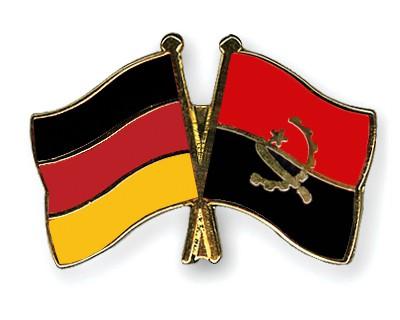 Crossed Flag Pins Germany-Angola