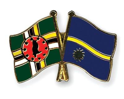 Crossed Flag Pins Dominica-Nauru