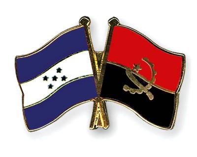 Crossed Flag Pins Honduras-Angola