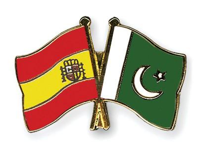 Crossed Flag Pins Spain-Pakistan