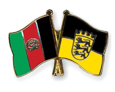 Crossed Flag Pins Afghanistan-Baden-Wuerttemberg