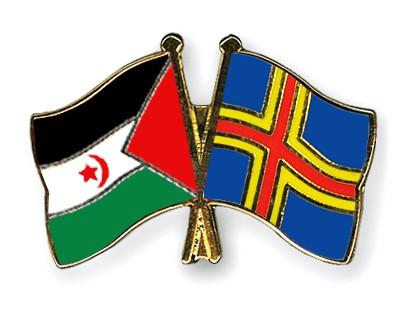 Crossed Flag Pins Western-Sahara-Aland