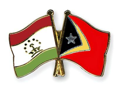 Crossed Flag Pins Tajikistan-Timor-Leste