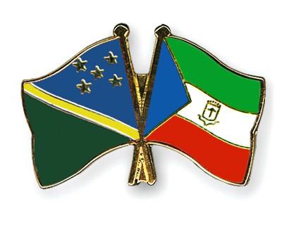 Crossed Flag Pins Solomon-Islands-Equatorial-Guinea