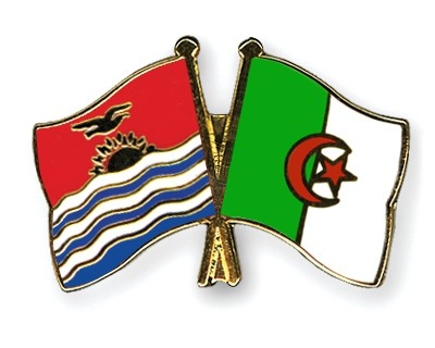 Crossed Flag Pins Kiribati-Algeria